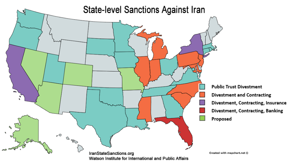 State-level Sanctions Against Iran